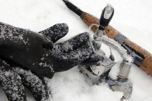降雪や気温の低さで全てが凍り付く。