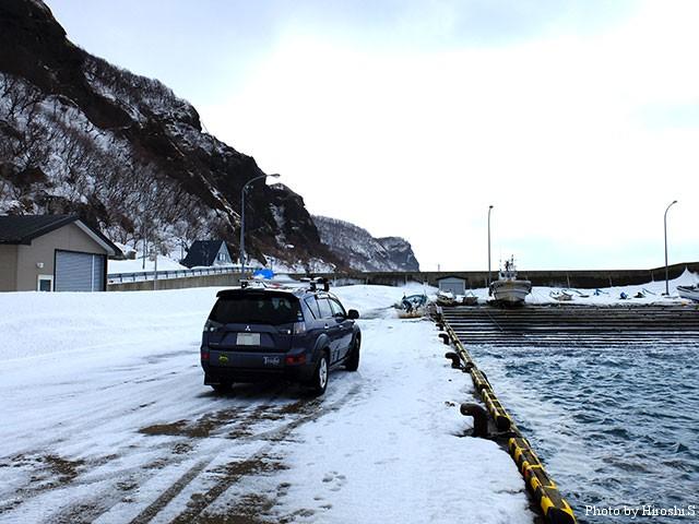帰路に立ち寄った、道南の漁港。残念ながら魚影は皆無であった。