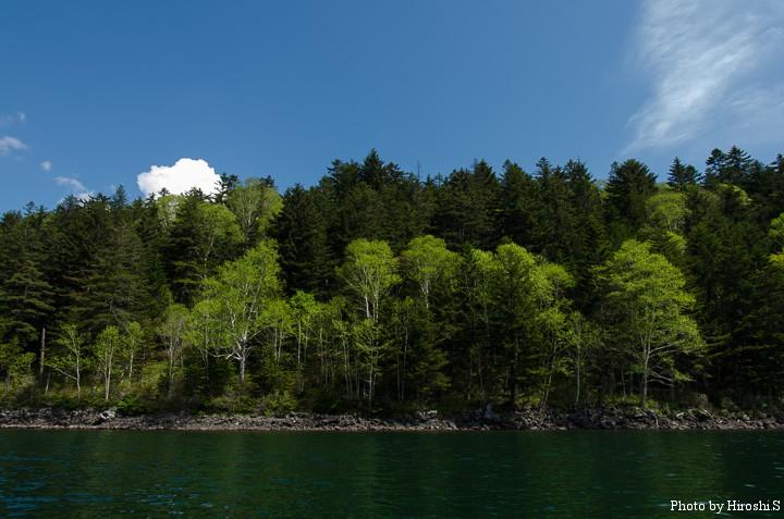 今年は晴天に恵まれた、然別湖。