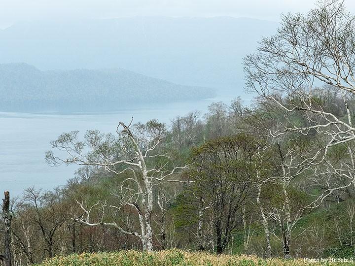 藻琴山より屈斜路湖を。日広峠よりも、僕は好きかも。