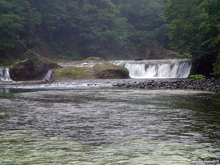 知床にて 滝など、大場所でも、必ず反応があるのが素晴らしい。