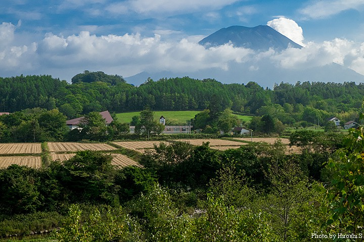 道南の秀峰、羊蹄山。