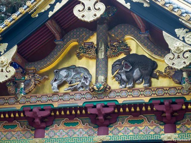 日光東照宮 上神庫 想像の象