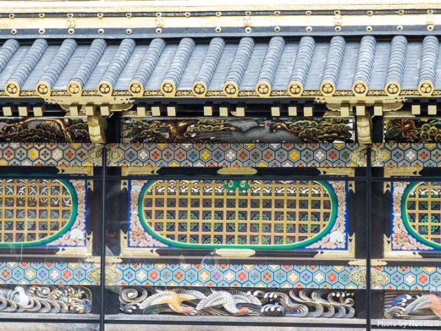 日光東照宮 唐門 塀を飾る装飾の数々
