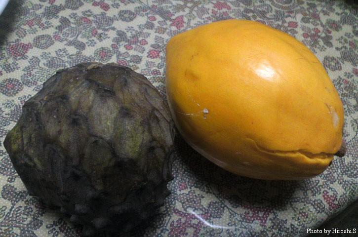 エッグフルーツとアテモヤ