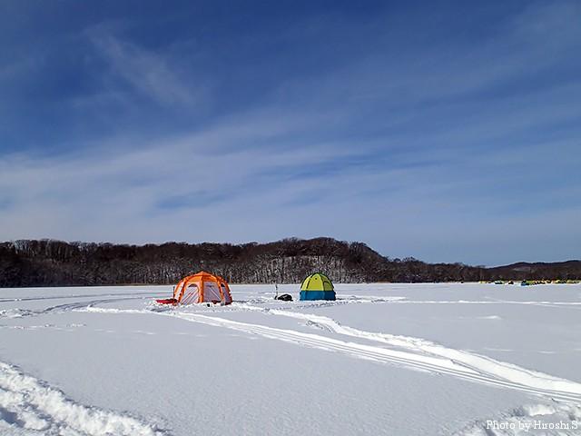 今回の網走湖は寒さは厳しかったけれど、天候には恵まれた一日であった。