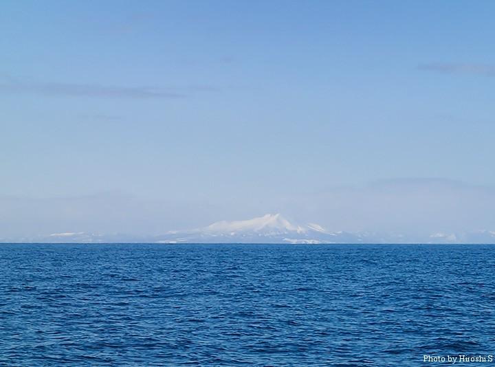 今日の海域は、駒ヶ岳がこのように見える場所であった。
