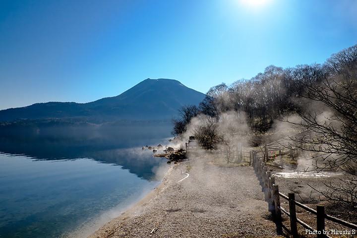 帰還する日は晴天の阿寒湖(ボッケ)