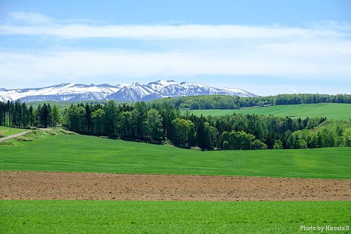 太平高原牧場から大雪の山々を X-T1