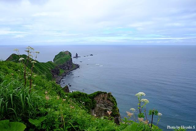 神威岬 岬周辺のみ徐々に天候が回復してきた