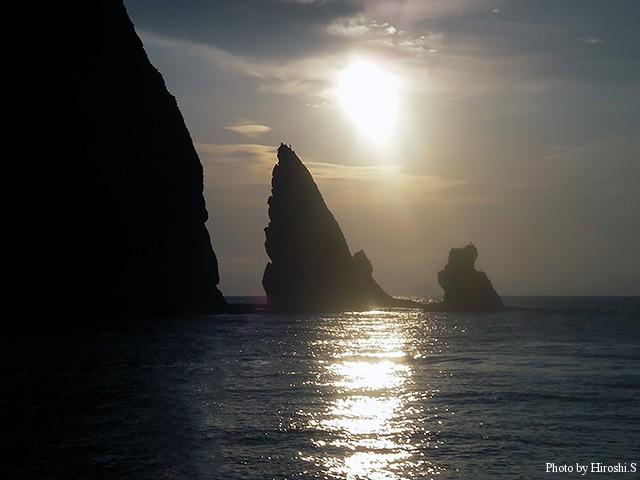 この時期の日の出は国後ではなく、岬よりから昇る