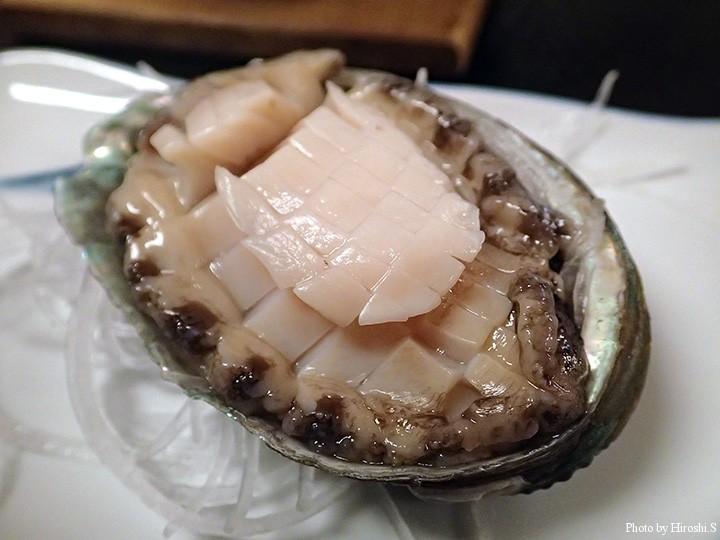 松前の前浜産 蝦夷鮑のお造り 美味