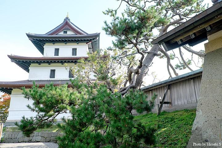 松前城にて