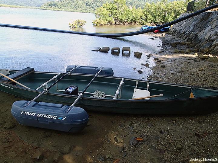 初日の釣りはエレキ付きのカヤックで浦内川へ