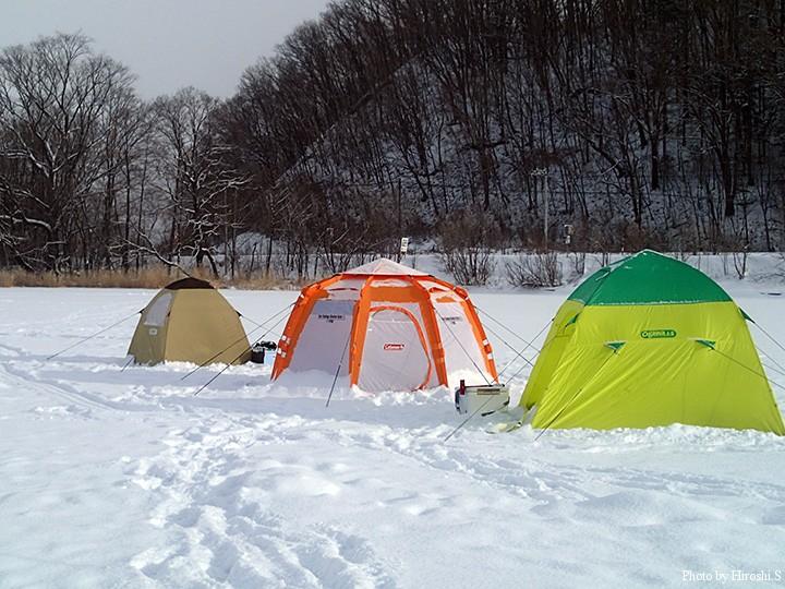 三連休最終日の網走は雪に見舞われた。