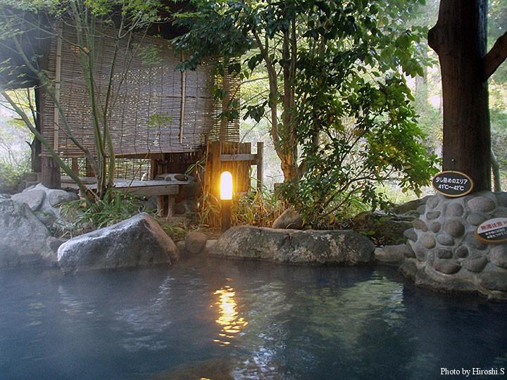 黒川温泉 和らく 露天風呂