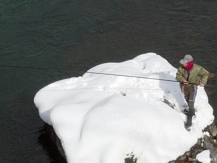 吉田川での郡上釣り