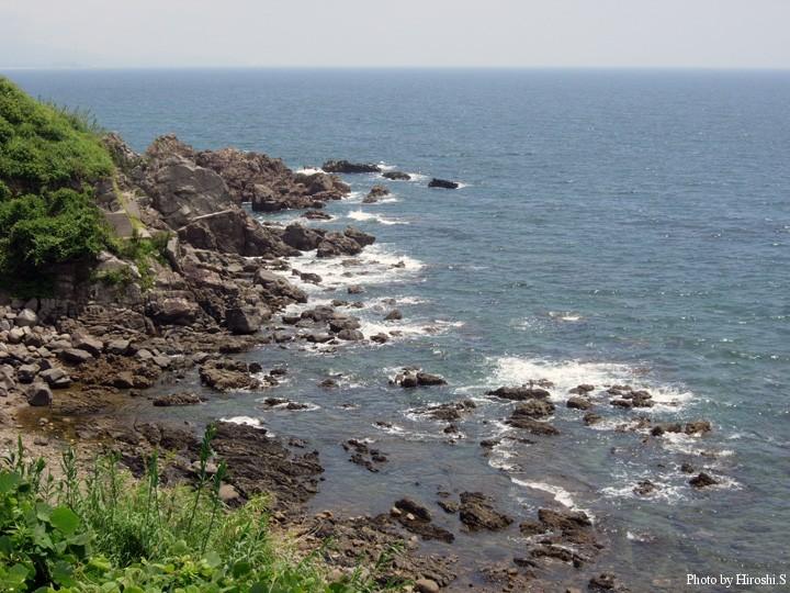 鹿児島県阿久根市付近の海岸線