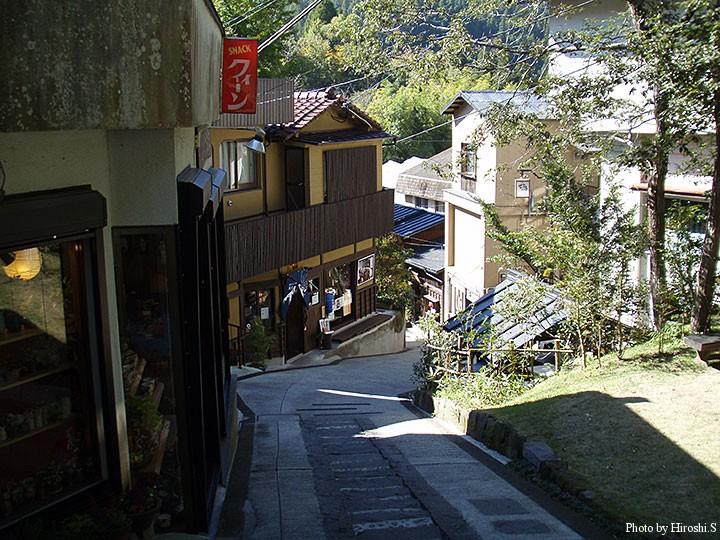 黒川温泉の町並み