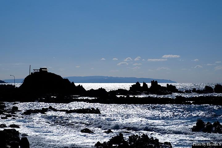太櫓海岸 この辺りは磯とサーフが交互に現れる