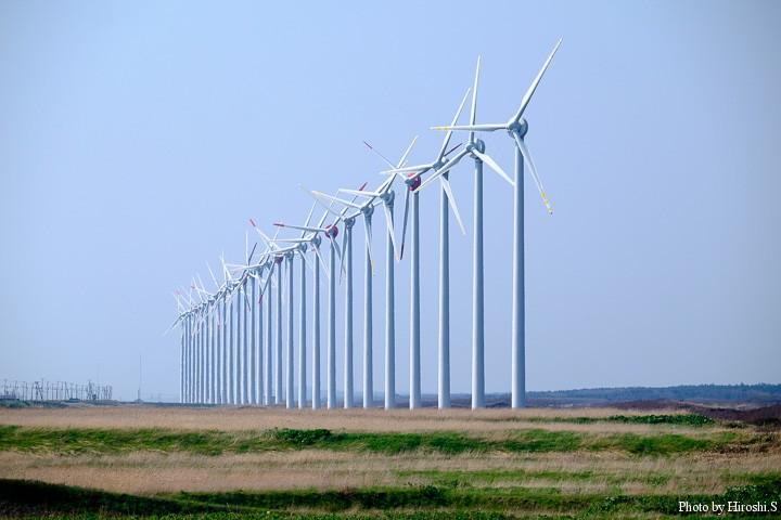 オトンルイの風力発電群