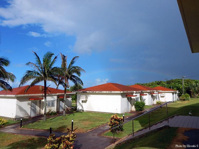 西表島 スコールの後には虹が出る